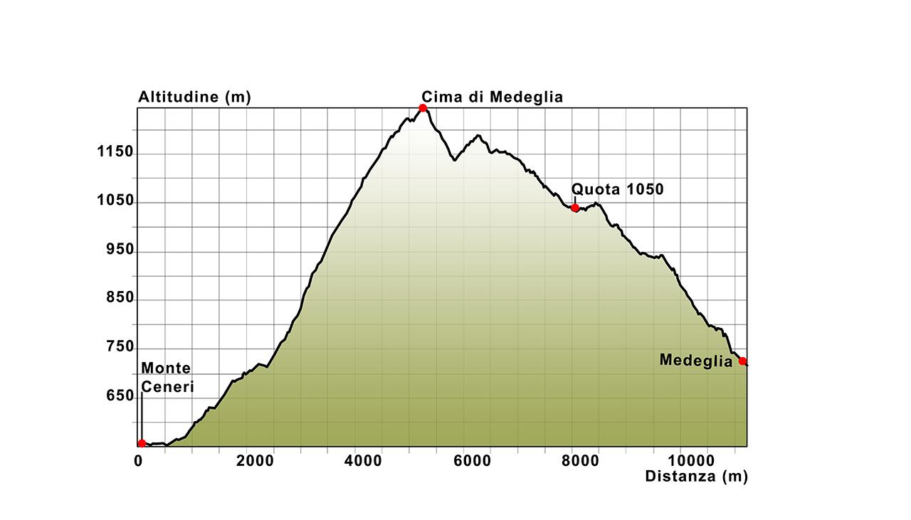 05 Profilo altimetrico Monte Ceneri - Medeglia