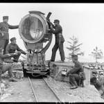 Proiettore  mobile 60 cm in posizione (fonte: Swiss Archives)