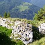 Trincea con vista sull'alpe di Giumello